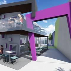Locales Comerciales: Escaleras de estilo  por Estudio A+I