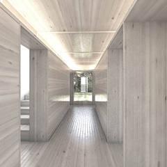 Villa am Waldwinkel:  Flur & Diele von Atelier Lüps