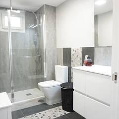 Estilo industrial para esta reforma realizada por nuestra empresa: Baños de estilo  de GRUPO STYLO REFORMAS Y DECORACIÓN S.L.