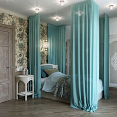 Частный дом в Пушкине: Спальни в . Автор – EJ Studio,