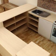Küche, Kindergarten, 3D-Planung:  Einbauküche von renderslot