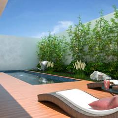 Casa Landscape: Piscinas de jardim  por Isabela Notaro Arquitetura e Interiores