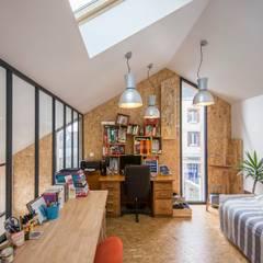 maison individuelle - projet d'extension: Bureau de style  par FRED PIEAU PHOTOGRAPHE