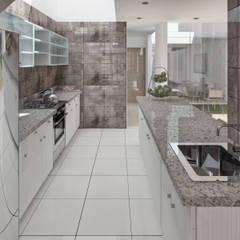 minimalistic Kitchen by TECTONICA STUDIO SAC