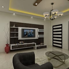 Dr.Viren:  Living room by Regalias India Interiors & Infrastructure