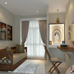Apartment Project @Palm terrace drives by MAD DESIGN:  Study/office by MAD DESIGN