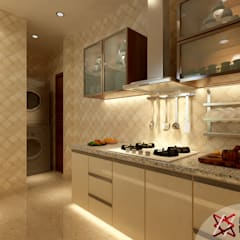 Apartment Project @Palm terrace drives by MAD DESIGN:  Kitchen by MAD DESIGN
