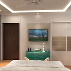 Apartment Project @Palm terrace drives by MAD DESIGN:  Bedroom by MAD DESIGN