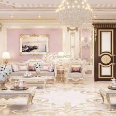New home designs by Katrina Antonovich:  Living room by Luxury Antonovich Design