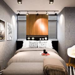 รีโนเวท  JW Condo:  ห้องนอน โดย Diameter Design ,