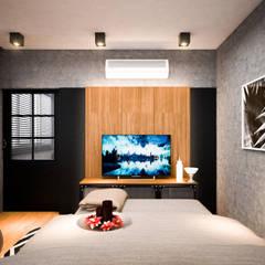 รีโนเวท  JW Condo:  ห้องนอน by Diameter Design