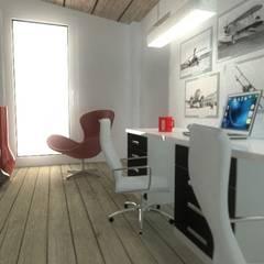 Estudio: Estudios y despachos de estilo  de Habitaka diseño y decoración