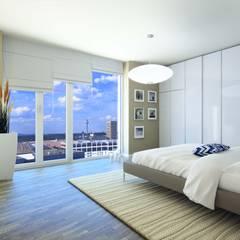 Wohnen im Ausnahmeobjekt PRAEDIUM in Frankfurt:  Schlafzimmer von JLL Residential Development