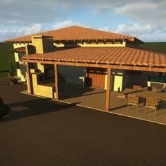 Vista Posterior: Casas do campo e fazendas  por Ativo Arquitetura e Consultoria