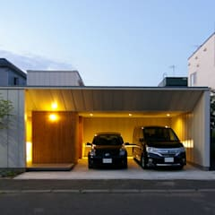 Garage/shed by 株式会社 ATELIER O2