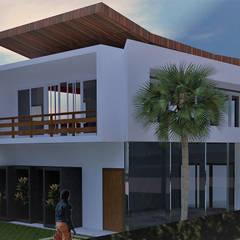 Casa de Praia : Casas do campo e fazendas  por Ativo Arquitetura e Consultoria