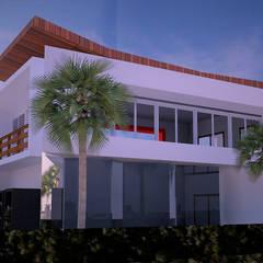Vista Lateral: Casas do campo e fazendas  por Ativo Arquitetura e Consultoria