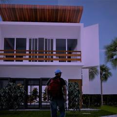 Fachada Principal: Casas do campo e fazendas  por Ativo Arquitetura e Consultoria