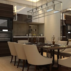 RESIDENTIAL PROJECT BY MAD DESIGN:  Dining room by MAD DESIGN