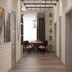 Pasillos y vestíbulos de estilo  por Студия интерьерного дизайна happy.design
