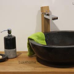 Black marble bathroom sink - black washbasin:  Bathroom by Lux4home™ Indonesia