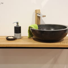 Black marble bathroom sink - black washbasin: tropical Bathroom by Lux4home™ Indonesia