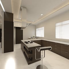 Krithika Reddy:  Kitchen units by Regalias India Interiors & Infrastructure