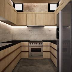مطبخ ذو قطع مدمجة تنفيذ Zero field design studio