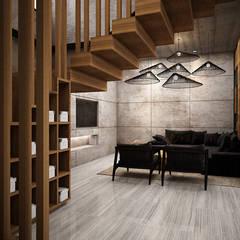 :  ห้องนั่งเล่น by Zero field design studio
