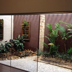 بيت زجاجي تنفيذ Luzia Benites - Arquiteta Paisagista