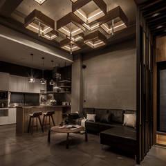 Livings de estilo  por 漢玥室內設計, Industrial Azulejos