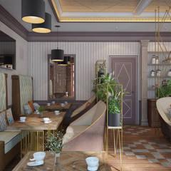 Оригинальный дизайн интерьера ресторана в природных тонах: Коммерческие помещения в . Автор – Art-i-Chok