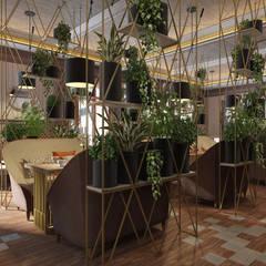 Уютный дизайн интерьера ресторана - современный стиль и американский: Коммерческие помещения в . Автор – Art-i-Chok