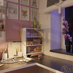 Квартира 120кв.м.: Спальни для девочек в . Автор – status