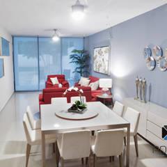 """""""PROYECTO JM38"""": Comedores de estilo  por PORTO Arquitectura + Diseño de Interiores"""