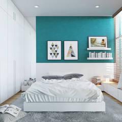 Thiết kế Nội thất:  Phòng ngủ by AT Design