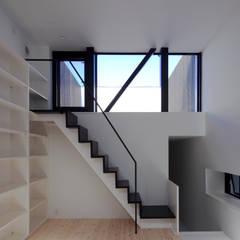 ハコノオウチ01: 石川淳建築設計事務所が手掛けたテラス・ベランダです。