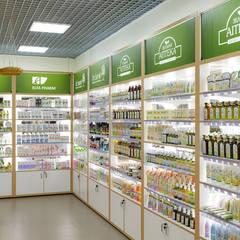 Дизайн магазина косметики в зеленых тонах: Офисы и магазины в . Автор – Art-i-Chok