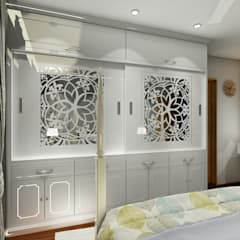 PROPOSED INTERIOR DESIGN AT KHARADI .:  Bedroom by DESIGN EVOLUTION LAB