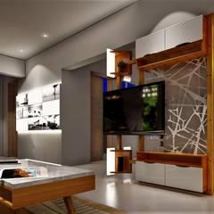 Living room by DESIGN EVOLUTION LAB