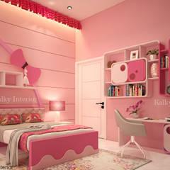 Duplex interior, Bhubaneswar:  Girls Bedroom by kalky interior