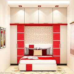 Guest bedroom: minimalistic Bedroom by kalky interior