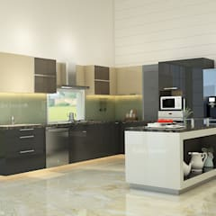 Modular kitchen with island:  Built-in kitchens by kalky interior