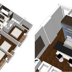 Proy. Remodelacion de Apartamento 100m2: Pisos de estilo  por Arquigrafic, c.a.,