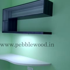 Nandi Citadel - E303:  Study/office by Pebblewood.in