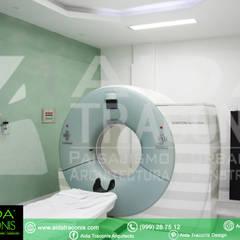 Tomografía en Unirad: Hospitales de estilo  por AIDA TRACONIS ARQUITECTOS EN MERIDA YUCATAN MEXICO