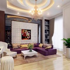 Nhà Phố 3 Tầng Đẹp 5x20m Mang Phong Cách Tân Cổ Điển:  Đồ điện tử by Công ty TNHH Xây Dựng TM – DV Song Phát