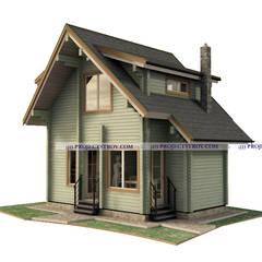 Casas de campo de estilo  por Projectstroy