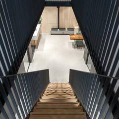 Cementgebonden Gietvloer in Huizen Moderne gezondheidscentra van Motion Gietvloeren Modern