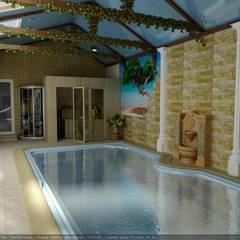 Дизайн частного бассейна: Бассейн в . Автор – Дизайн студия 'Exmod' Павел Цунев